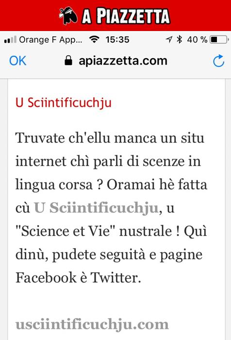CI FÀCINI A PUBLICITÀ L'AMICHI DI U WEB!